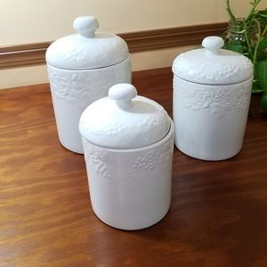 Ceramic Canisters, set of 3